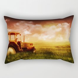 Tractor Oil Painting  Rectangular Pillow