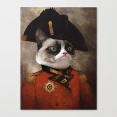 Angry cat. Grumpy General Cat.  Canvas Print