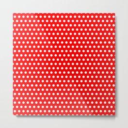 Polka / Dots - Red / White - Medium Metal Print