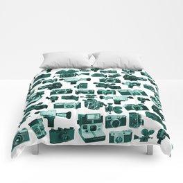 Cameras & Green Comforters