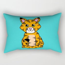 Little ginger tabby Rectangular Pillow