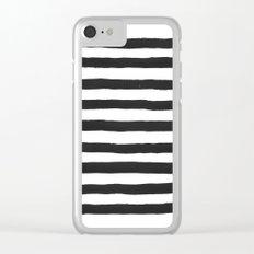 Black paint stripes Clear iPhone Case