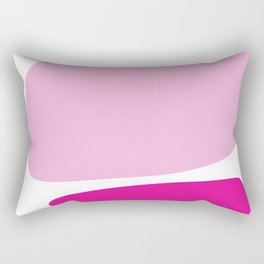 Fun retro style abstract print in soft pastel colours Rectangular Pillow