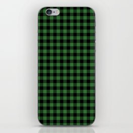 Classic Green Country Cottage Summer Buffalo Plaid iPhone Skin