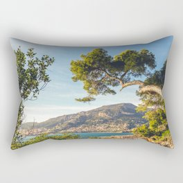 Maritime pine trunk in French Riviera in a sunny day Rectangular Pillow