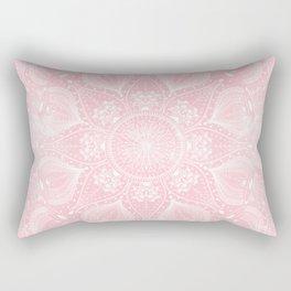 Elegant white mandala design Rectangular Pillow