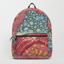 Growing - Glycine (soy) - plant cell embroidery Backpack