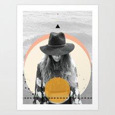 Sun Girl Art Print