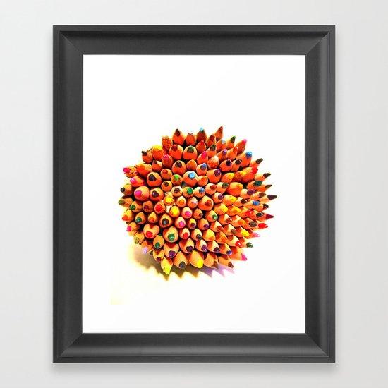 2 Many Pencils Framed Art Print