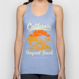 Newport Beach California Unisex Tank Top