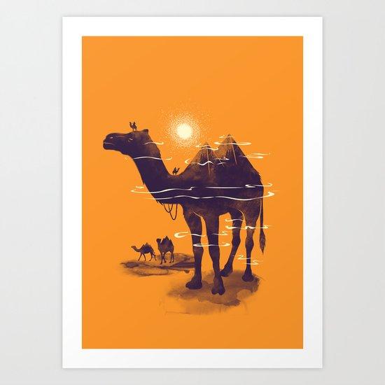 Walking Pyramid Art Print