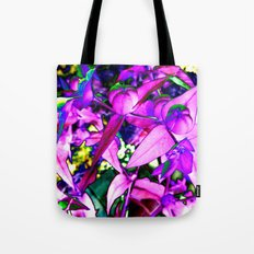 Pink Altered Flowers Tote Bag