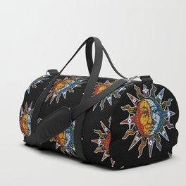Celestial Mosaic Sun and Moon Duffle Bag