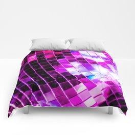 Purple Disco Ball Comforters