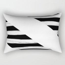 Cross Black and White Gross Stripes Rectangular Pillow