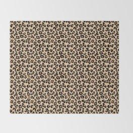 Leopard Print, Black, Brown, Rust and Tan Throw Blanket
