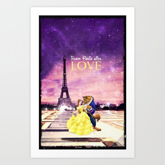 From Paris with love - for iphone Art Print