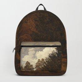 Caspar David Friedrich - Rocks in the Harz mountain.jpg Backpack