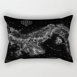 Panama Antique Map Rectangular Pillow