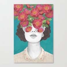 The optimist // rose tinted glasses Canvas Print