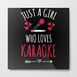 Karaoke Girl | Karaoke Lovers Karaoke Night Metal Print