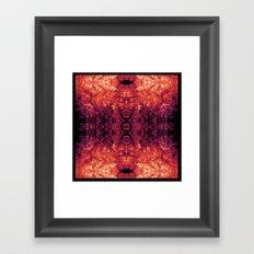 Brother Meditation - red purple Framed Art Print
