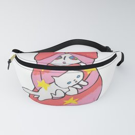 RETRO ANIME BUTTERFLY GIRL Fanny Pack