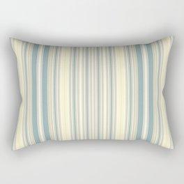Seafoam Green Yellow Stripes Rectangular Pillow
