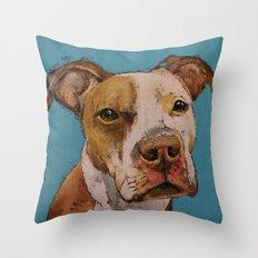 American Pit Bull Throw Pillow