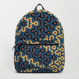 Squiggle Trails Most Awesome Yellow Red Blue and Black Backpack