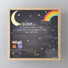 Sleep ~ A Luxury Framed Mini Art Print