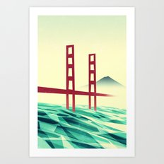 Misty day at the Golden Gate Art Print