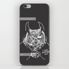 owl or not iPhone & iPod Skin