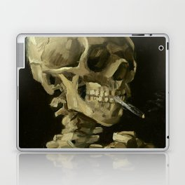 Skull of a Skeleton with Burning Cigarette by Vincent van Gogh Laptop & iPad Skin