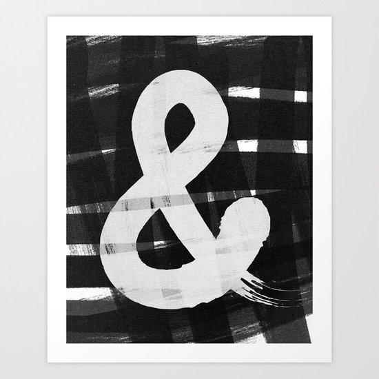 Ampersand Brush Art Print