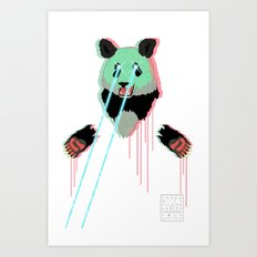 Panda with F$%king Lazers Art Print