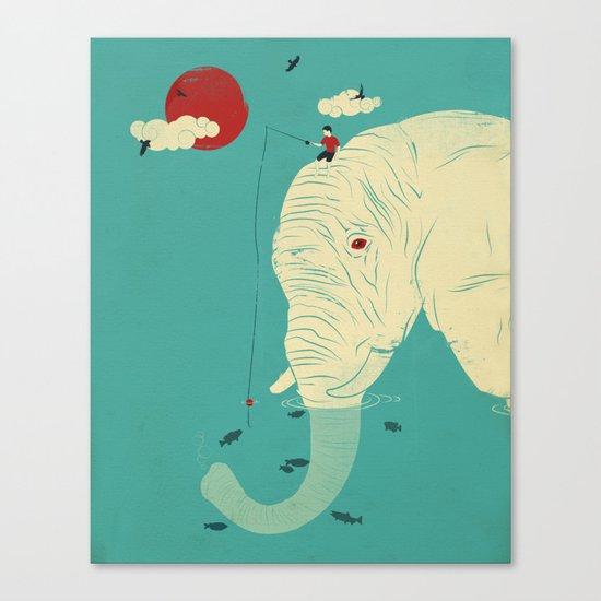 Fishin' Buddy Canvas Print
