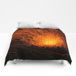 Golden Firework Comforters
