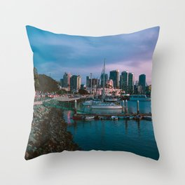 Moody sunset by Downtown San Diego Throw Pillow
