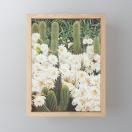 Cactus and Flowers Framed Mini Art Print