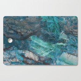 Cerulean Blue Marble Cutting Board