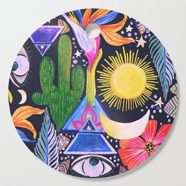 Cactus Sunrise Looking at You Cutting Board