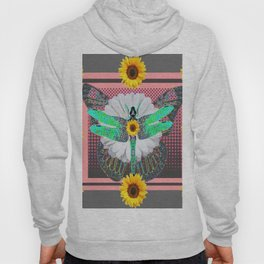 GREEN DRAGONFLY FLORAL UNIVERSE Hoody