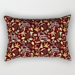 Hand drawn Happy Thanksgiving  poster. Rectangular Pillow