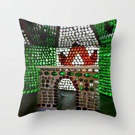 Bottle House Church Altar Throw Pillow
