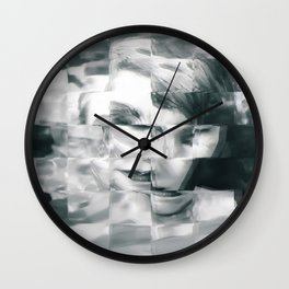 Young woman Wall Clock
