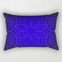 Blue Octogon Star Rectangular Pillow