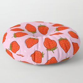 Strawberry Print Floor Pillow