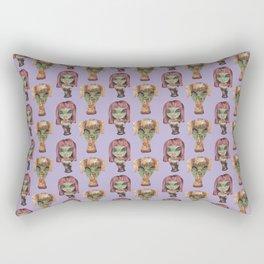 alien girls fast-food Rectangular Pillow