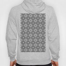 Kaleidoscope Flowers - Black and White Hoody